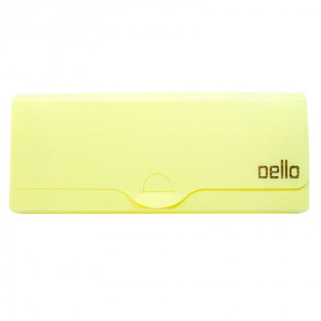 Estojo escolar plastico Linho Serena Amarelo pastel Dello