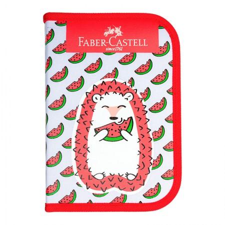 Estojo escolar Porco Espinho - 182220VM - completo - Faber-Castell
