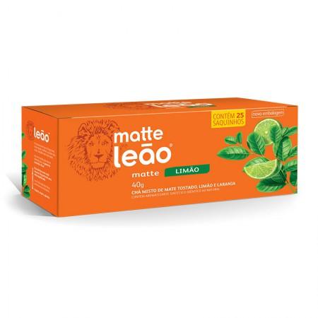 Chá mate de limão - com 25 unidades - Matte Leão