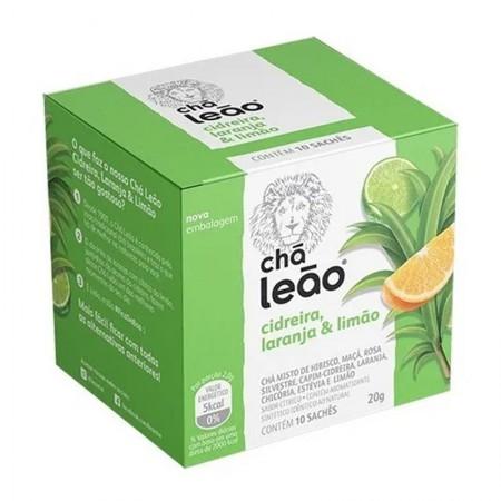 Chá de capim cidreira laranja e limão - com 10 unidades - Leão Fuze