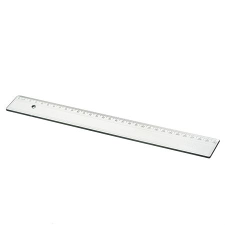 Régua poliestireno 30 cm - cristal - 981 - Acrimet