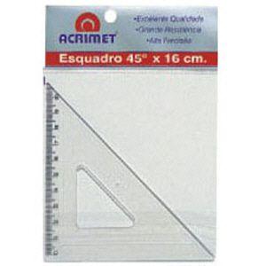 Esquadro poliestireno - 16cm x 45 graus - 522 - Acrimet