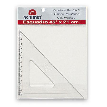 Esquadro poliestireno - 21cm x 45 graus - 532 - Acrimet