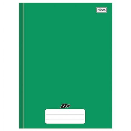 Caderno brochurão capa dura universitário 1X1 - 96 folhas - D mais - Verde - Tilibra