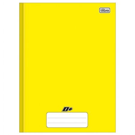 Caderno brochurão capa dura universitário 1X1 - 96 folhas - D mais - Amarelo - Tilibra