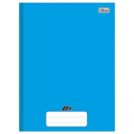 Caderno brochurão capa dura universitário 1X1 - 96 folhas - D mais - Azul - Tilibra