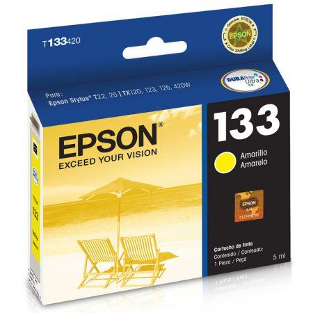 Cartucho Epson (133) T133420 - amarelo 300 páginas