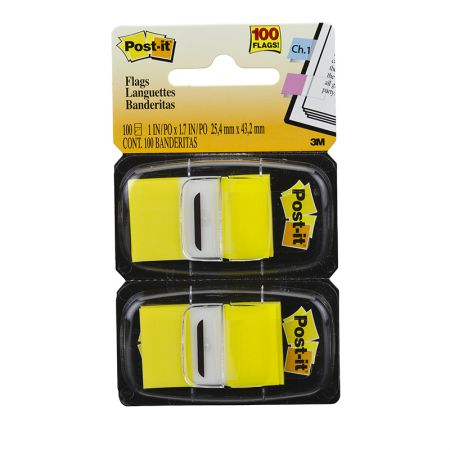 Post-It tape flags - amarelo - com 100 folhas - 3M