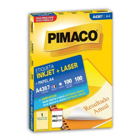 Etiqueta inkjet/laser A4367 - com 100 folhas - Pimaco
