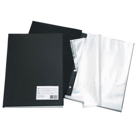 Pasta catálogo com visor - 192 - Preto - com 100 envelopes plásticos - Dac