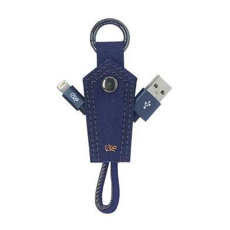 Cabo Chaveiro Iphone 5/6/7 - I2GCBL945 - Jeans - I2GO