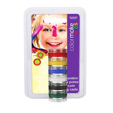 Tinta cremosa facial kids com 6 cores - Colormake