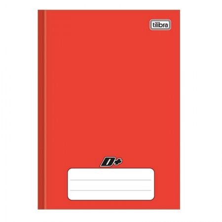 Caderno brochura capa dura 1/4 - 96 folhas - D mais - Vermelho - Tilibra