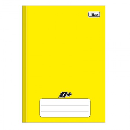 Caderno brochura capa dura 1/4 - 48 folhas - D mais - Amarelo - Tilibra
