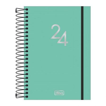 Agenda espiral diária capa plástica Neon 2021 - Verde - Tilibra