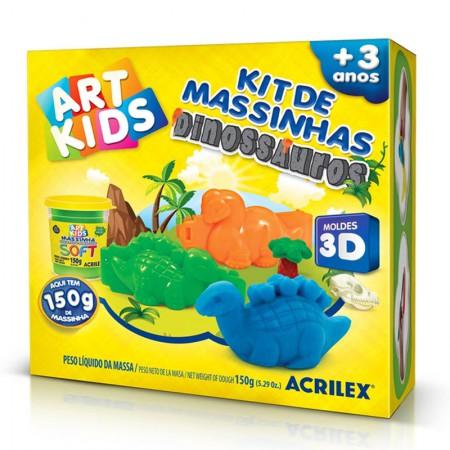 Massinha kit Dinossauros 3D - Art Kids - 40047 - Acrilex