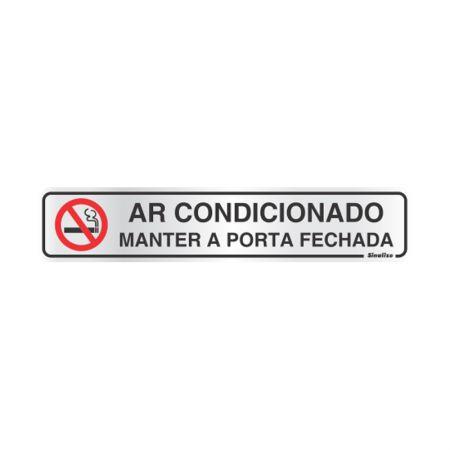 Placa de alumínio ar condicionado 100AN - Sinalize