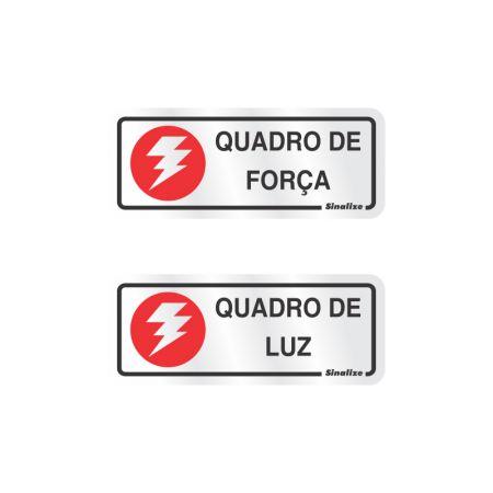 Placa de alumínio quadro de força/luz 120AL - Sinalize