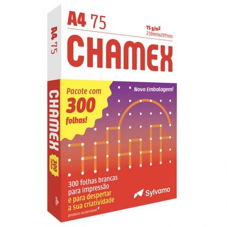 Papel sulfite A4 75g - 210x297 - com 300 folhas - Chamex