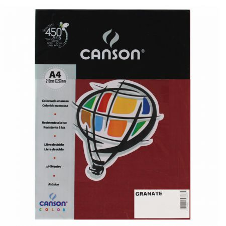 Papel Color Vivaldi A4 120g granate - com 15 folhas - Canson