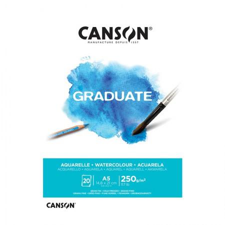 Bloco graduate aquarela A5 250g- com 20 folhas - Canson