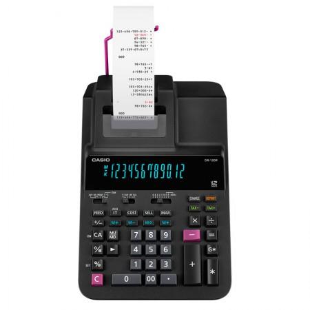 Calculadora de Mesa Com Bobina 12 Digitos - DR-120R Bivolt - Casio
