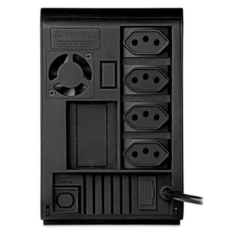 No-break 110v 600VA preto - Back-UPS BZ600-BR - 4 tomadas - APC