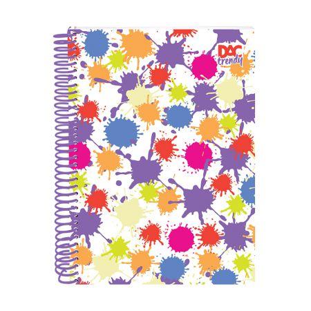 Caderno espiral capa dura universitário 10x1 - 200 folhas - 2371 - Splash - Dac