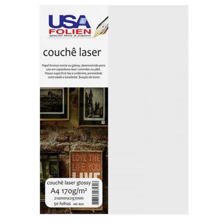 Papel fotográfico couchê glossy A4 170g - 8171 - com 50 folhas - Usa Folien