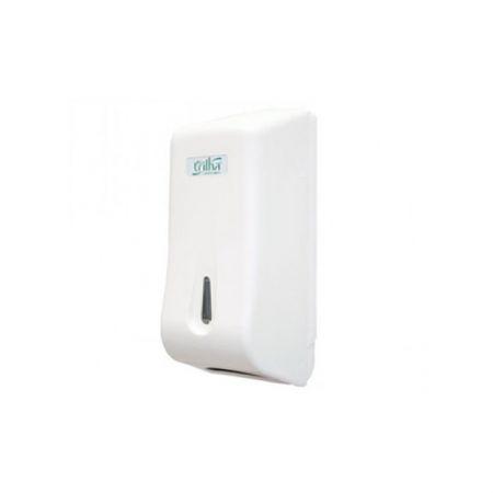 Suporte papel higiênico intercalado cai-cai - T-0210BP - Branco - Trilha