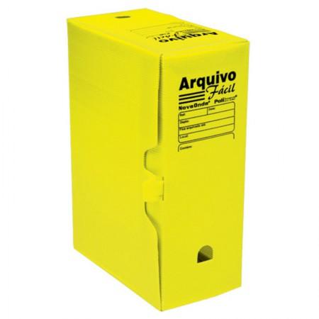 Arquivo morto plástico gigante novaonda amarelo - Polibras