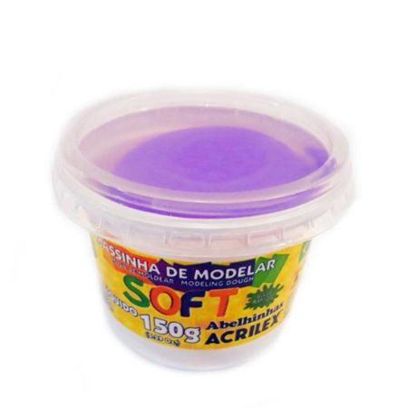 Massa de modelar Soft 150g - Violeta 516 - Acrilex