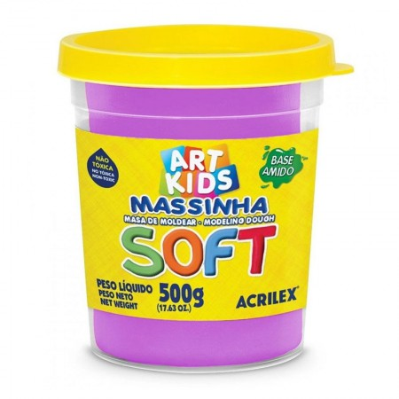 Massa de modelar Soft 500g - Violeta 516 - Acrilex