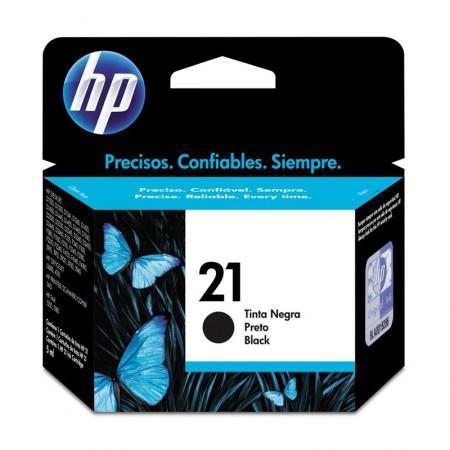 Cartucho HP Original (21) C9351AB - preto rendimento 190 páginas