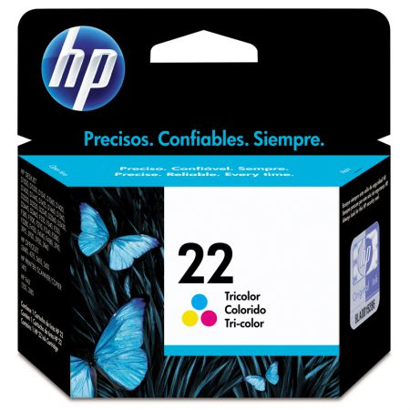 Cartucho HP Original (22) C9352AB cores até 170 páginas