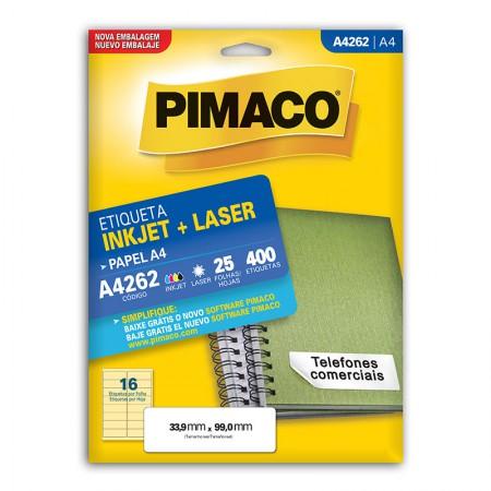 Etiqueta inkjet/laser A4262 - com 25 folhas - Pimaco