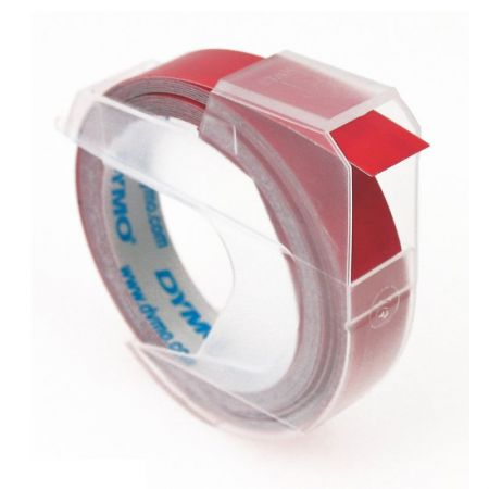 Fita para rotulador vinílica 9mm - 520102 - vermelho - Dymo
