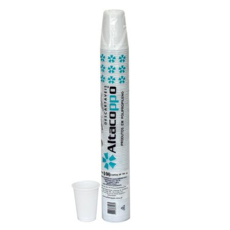 Copo plástico descartável Super Premium 180ml 100und Altacoppo