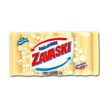 Sabão em barra comum - com 5 unidades - Zavaski