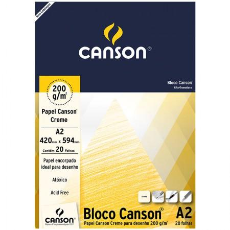 Bloco desenho creme A2 200g - com 20 folhas - Canson