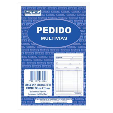 Pedido com cópia azul 50x1 - 137x207mm - São Domingos