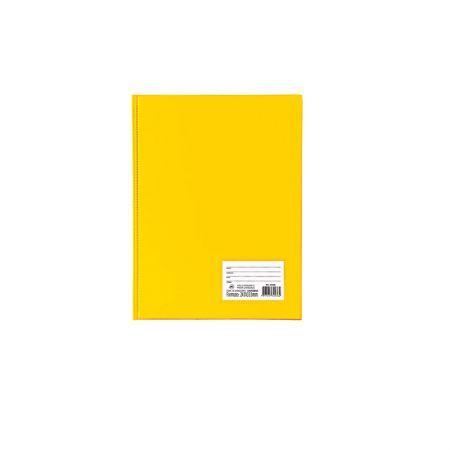 Pasta catálogo com visor - 1028AM - Amarelo - com 10 envelopes plásticos - Dac