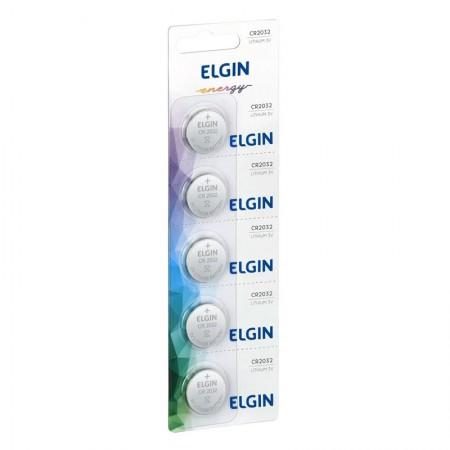 Bateria de litio 3V CR2032 cartela c/ 5 - 82193 - Elgin