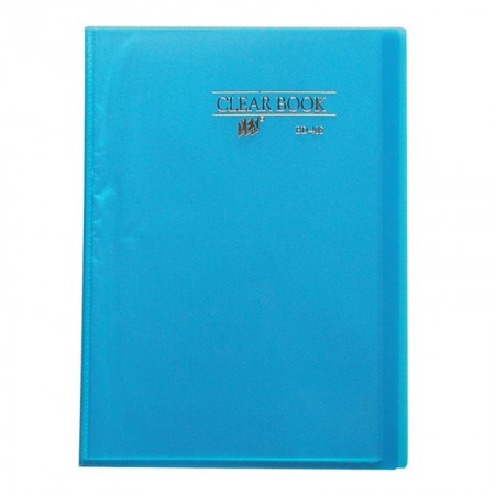 Pasta catálogo transparente azul BD40S 40 plásticos Yes