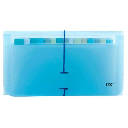 Pasta sanfonada cheque 12 divisões azul 6080PP-AZ - Dac