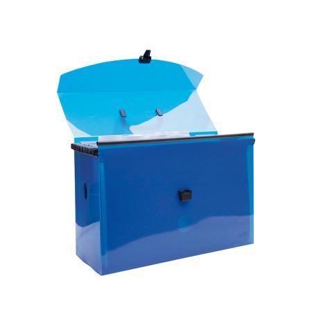 Maleta arquivo Delloplast com 10 pastas suspensas - Azul - 0317.C - Dello