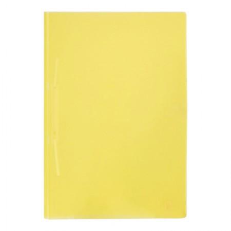 Pasta grampo trilho ofício plást Transp Amarela Yes