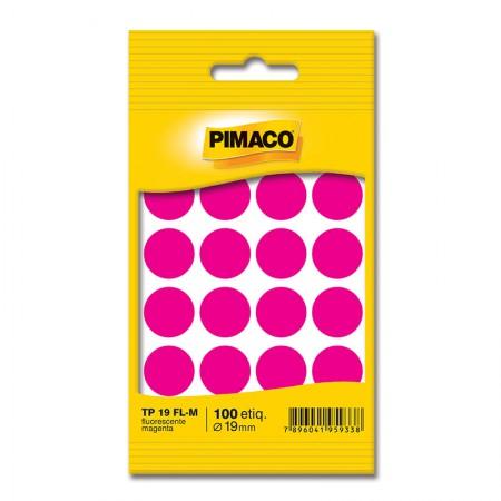 Etiqueta adesiva TP19 - magenta neon - Pimaco