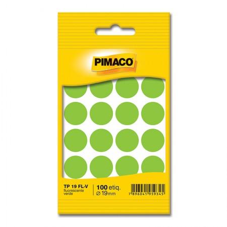 Etiqueta adesiva TP19 - verde neon - Pimaco