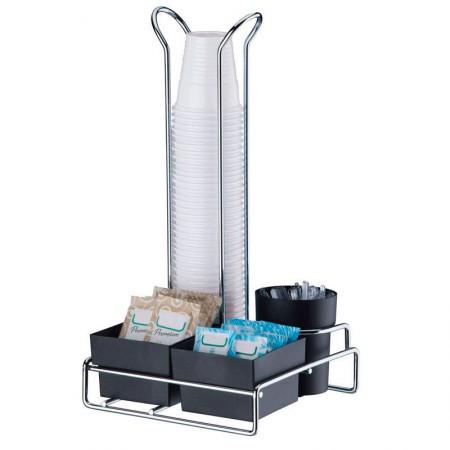 Organizador para copos descartáveis 50/80 ml - 1151 - sachês de açúcar/adoçante e mexedor - Future
